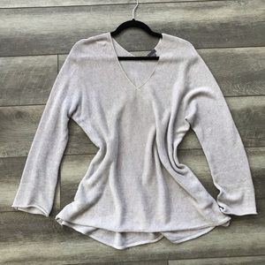 Vince | Light Gray Cotton Knit Pullover Sweater